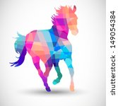 abstract horse of geometric... | Shutterstock .eps vector #149054384