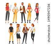 building workers and architects ...   Shutterstock .eps vector #1490547236