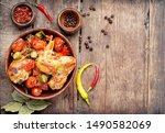 Chicken Meat Stewed In Tomatoe...