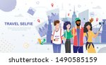 travel company or agency ... | Shutterstock .eps vector #1490585159