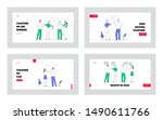 business characters discussion... | Shutterstock .eps vector #1490611766