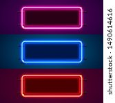 neon frame sign in the shape of ... | Shutterstock .eps vector #1490614616