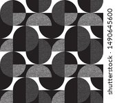 black and white geometric forms ... | Shutterstock .eps vector #1490645600