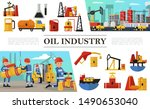 flat oil industry composition... | Shutterstock .eps vector #1490653040
