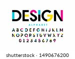 modern bright colorful font... | Shutterstock .eps vector #1490676200