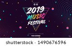 electronic music covers for...   Shutterstock .eps vector #1490676596