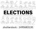 banner template with elections...   Shutterstock .eps vector #1490683130