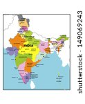 administrative map of india | Shutterstock . vector #149069243
