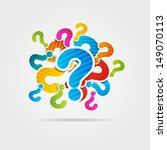 question mark poster | Shutterstock .eps vector #149070113