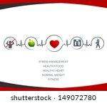 healthy  heart  and  wellness... | Shutterstock . vector #149072780