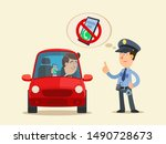 no texting and talking on phone ... | Shutterstock .eps vector #1490728673