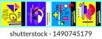 vector set of geometric...   Shutterstock .eps vector #1490745179