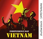 independence day of vietnam ... | Shutterstock .eps vector #1490764646