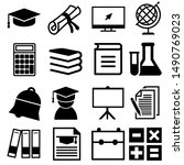 education vector icons set.... | Shutterstock .eps vector #1490769023