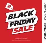 black friday sale banner layout ... | Shutterstock .eps vector #1490769800