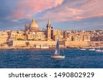 White Yacht And Old Town Of...