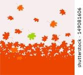 autumn background   maple   Shutterstock .eps vector #149081606