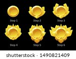 awards medals for gui game.... | Shutterstock .eps vector #1490821409