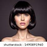 woman with beauty short black...   Shutterstock . vector #1490891960