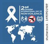international day of non... | Shutterstock .eps vector #1490901989