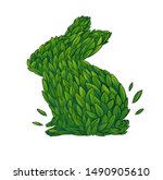 Stock photo hare sign is not tested on animals isolated on white background is not tested on animals with 1490905610