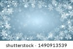 christmas background of complex ... | Shutterstock . vector #1490913539