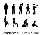 man icon  pictograms set people ... | Shutterstock . vector #1490923400