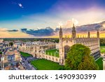 Aerial Scenery Of Cambridge...