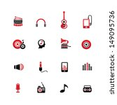 music icons on white background ... | Shutterstock .eps vector #149095736