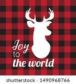 elk. reindeer silhouette.... | Shutterstock .eps vector #1490968766