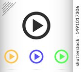 video play vector eps 10 icon   ...