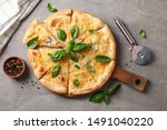 Cheese Pizza With Basil  Cutter ...