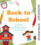 back to school card design.... | Shutterstock .eps vector #149104244