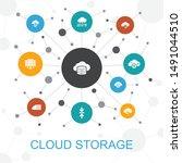 cloud storage trendy web...
