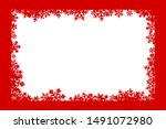 christmas decoration. winter... | Shutterstock .eps vector #1491072980