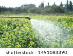 Chemical spraying on a field ...
