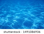 Underwater Swimming Pool Blue...