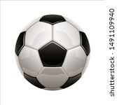 isolated soccer ball icon.... | Shutterstock .eps vector #1491109940