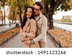 beautiful long haired woman... | Shutterstock . vector #1491123266