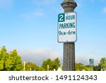 2 Hour Parking Street Sign