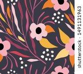 seamless vector floral pattern. ...   Shutterstock .eps vector #1491131963