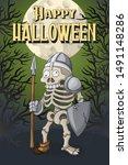 happy halloween party... | Shutterstock .eps vector #1491148286
