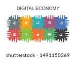 digital economy cartoon...