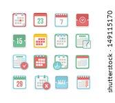 calendar icon set | Shutterstock .eps vector #149115170