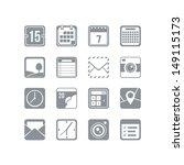 useful icon set   Shutterstock .eps vector #149115173