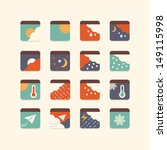 weather icon set | Shutterstock .eps vector #149115998