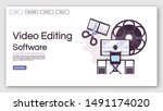 video editing software landing...