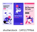 funny people shop online and...   Shutterstock .eps vector #1491179966