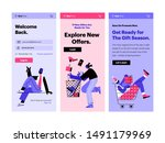 funny people shop online and...   Shutterstock .eps vector #1491179969