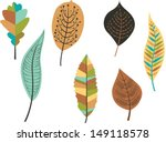 collection of  colorful autumn...